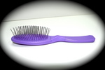 Madan Pin Brush: Small Oval / Pocket Size, Lavendar
