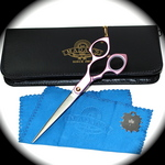 Madan Grooming Shears - Aluminum 6.5 Inches - Pink