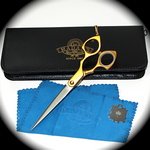 Madan Grooming Shears - Aluminum 6.5 Inches - Gold