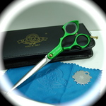 Madan Grooming Shears - Aluminum 6.5 Inches - Green