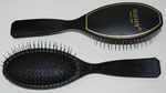 Madan Pin Brush: Small Oval / Pocket Size, Black