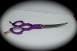 Madan Curved Shears - Aluminum 6 Inches - Purple