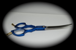 Madan Curved Shears - Aluminum 6 Inches - Blue