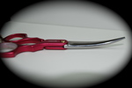 Madan Curved Shears - Aluminum 6 Inches - Pink