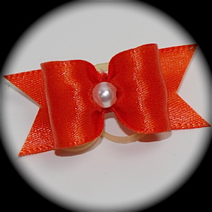 "5/8"" bow - single satin - torrid orange"