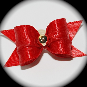 "5/8"" bow - single satin - hot red"