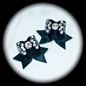 Maltese Bows - Style 9 - Fancy CZ 3 Rows