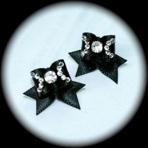 Maltese Bows - Style C - Fancy CZ Inverted C