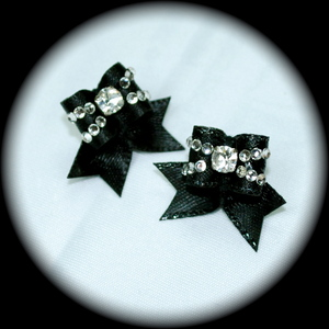 Maltese Bows - Style 19 - Fancy CZ Double Row