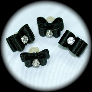 Maltese Bows - Satin - w/ flat back or double loop