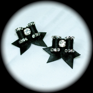 Maltese Bows - Style E - Fancy CZ Edged