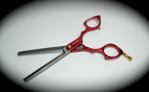 Madan Thinning Shears - Aluminum 6 Inches - Red